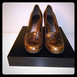 Brown Nine West heels